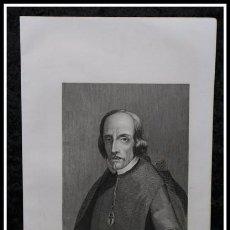 Arte: 1854 - PEDRO CALDERON DE LA BARCA - GRABADO - GRAVURE - ENGRAVING - 243X155MM. Lote 57845964