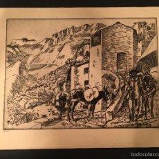 Arte: LASZLO BARTA (1902-1961) - AGUAFUERTE ORIGINAL - FIRMADO - NUMERADO - JUDAICA - JUDIO [08]. Lote 57866630