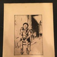 Arte: LASZLO BARTA (1902-1961) - AGUAFUERTE ORIGINAL - FIRMADO - NUMERADO - JUDAICA - JUDIO [09]. Lote 57866649