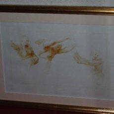 Arte: DIBUJO DE RAFAEL SANZIO - CALCOGRAFÍA - MUSÉE DU LOUVRE - CHALCOGRAFIE - ESTUDIO MOVIMIENTO FEMENINO. Lote 57915732