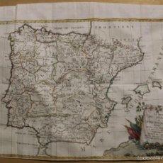 Arte: MAPA DE ESPAÑA Y PORTUGAL, 1796. ANTONIO ZATTA. Lote 58067855