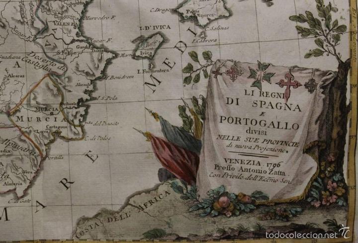 Arte: Mapa de España y Portugal, 1796. Antonio Zatta - Foto 2 - 58067855