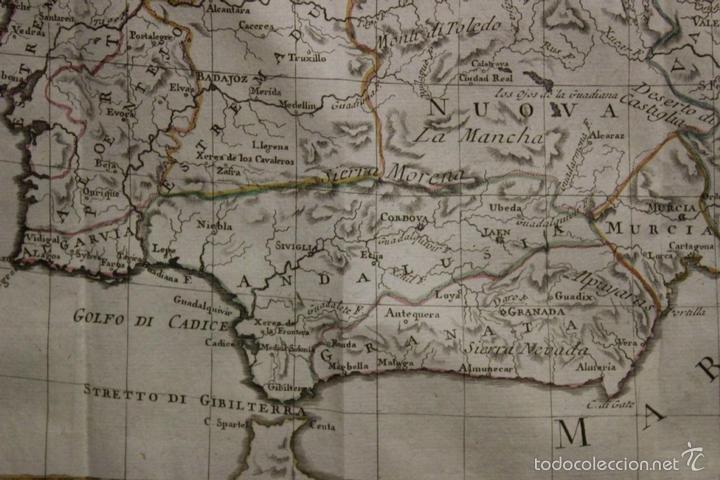 Arte: Mapa de España y Portugal, 1796. Antonio Zatta - Foto 3 - 58067855