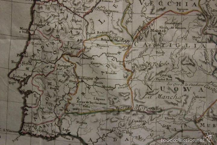 Arte: Mapa de España y Portugal, 1796. Antonio Zatta - Foto 4 - 58067855