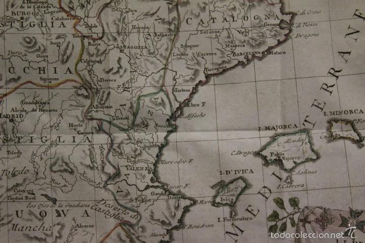 Arte: Mapa de España y Portugal, 1796. Antonio Zatta - Foto 6 - 58067855
