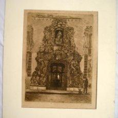 Arte: FACHADA PALACIO MARQUÉS DE DOS AGUAS, VALENCIA. CASTELLANO CARMELO. 1955. Lote 58067911