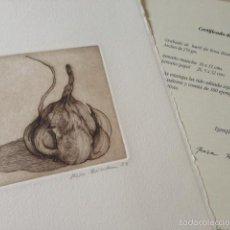 Arte: GRABADO AL BURÍL ROSA BIADIU FIRMADO NUMERADO CERTIFICADO. Lote 58117028