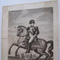 Arte: NAPOLEON BONAPARTE A CABALLO * PARIS CIRCA 1820´S-1830´S 33 CM GRABADO POR CEREGHETTI. Lote 58133460
