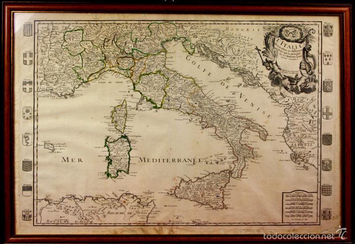 I3 042 L Italie Divisee Selon Mapa De It Buy Old