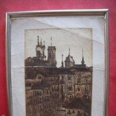 Arte: GRABADO.-MADRID.-MIHISLONINI.-GRABADO NUMERADO Y FIRMADO.-GRABADO ENMARCADO CON SOPORTE.-AÑO 1991.. Lote 58154505