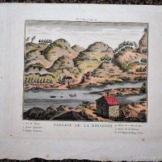 Arte: PASSAGE DE LA BIDASSOA. RIO BIDASOA.. Lote 58184510