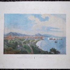 Arte: VISTA GENERAL DE LA CIUDAD Y DEL PUERTO DE BARCELONA TOMADA DEL PIE DE MONTJUIC.. Lote 58184676