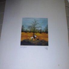 Arte: GRABADO EN COLOR FIRMADO Y NUMERADO. Lote 58209995