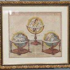 Arte: MAGNIFICO GRABADO DE SPHAERUM ARTIFICIALIUM TYPICA RAEPRESENTATIO. JOHANN GABRIEL DOPPELMAYR. Lote 58230604