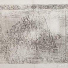 Arte: GRABADO MONTSERRAT ANNO 1601. 60 X 45 CM.. Lote 59152848