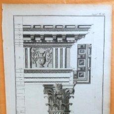 Arte: GRABADO ANTIGUO DE ARQUITECTURA 1751 ORIGINAL CERTIFICADO. GRABADOS ANTIGUOS ARQUITECTURA. Lote 27118118