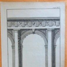 Arte: GRABADO ANTIGUO DE ARQUITECTURA 1751 ORIGINAL CERTIFICADO. GRABADOS ANTIGUOS ARQUITECTURA. Lote 27118119