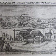 Arte: 1610-BATALLA DE LOCHEN.REY FELIPE III.AMBROSIO SPINOLA.ARCHIDUQUE ALBERTO.GRABADO ORIGINAL. Lote 58392003