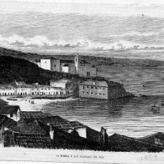 Arte: GRABADO DE PONTEVEDRA VIGO. LA RIBERA Y SAN FRANCISCO. AÑO 1859. Lote 61230801