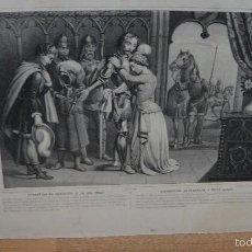 Arte: SEPARACION DE GENOVEVA Y DE SU ESPOSO - LITH DE TURGIS. Lote 58632979