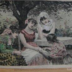 Arte: LA BUENAVENTURA - J. LLOVERA - GRABADO COLOREADO A MANO. Lote 58643304