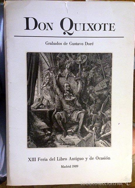 Arte: Gustavo Doré: Don Quixote (Carpeta con 10 grabados en papel verjurado. Tirada numerada. - Foto 2 - 58703328