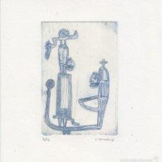 Arte: FENOMENOLILLOS. GRABADO CALCOGRAFICO. AUTOR: JUAN CANALS. Lote 58757465