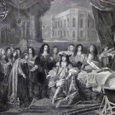 Arte: GRABADO AL ACERO 1860, CHARLES LE BRUN, FUNDACIÓN DEL OBSERVATORIO POR LUIS XIV, 1667. INFOLIO, ARTE. Lote 58775536