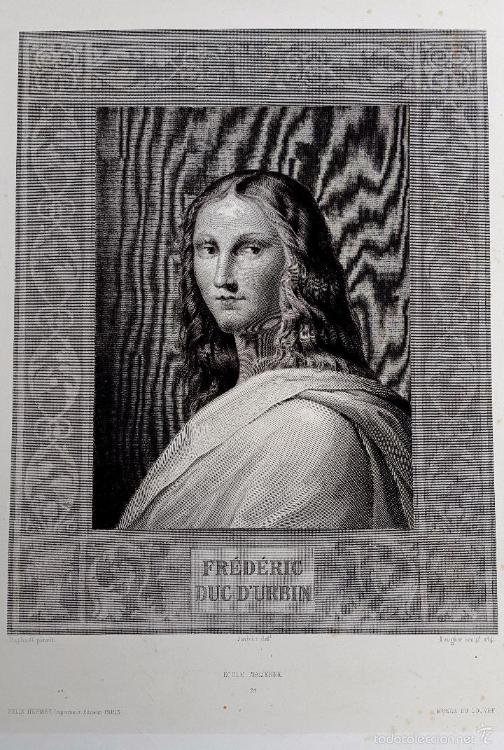 RAPHAEL - MUSÉE DU LOUVRE - ED. FELIX HERMET (Arte - Grabados - Modernos siglo XIX)