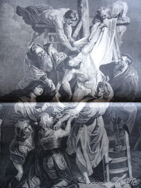 EL DESCENDIMIENTO DE LA CRUZ RUBENS .AÑO 1878 (Arte - Grabados - Modernos siglo XIX)