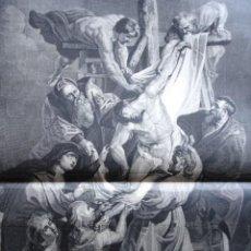 Arte: EL DESCENDIMIENTO DE LA CRUZ RUBENS .AÑO 1878. Lote 59219310