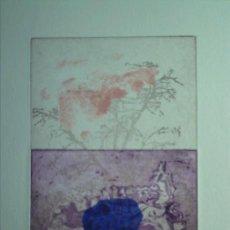 Arte: GUDRUN EVERT (BERLÍN, ALEMANIA, 1943) COLLAGE Y GRABADO 28X38, FIRMADO Y 2/50 + CERTIFICADO. Lote 59575135