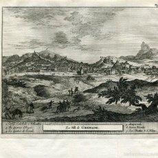 Arte: LA VILLA DE GRANADA. GRABADO POR PIETER VAN DER AA EN 1707. Lote 59648067