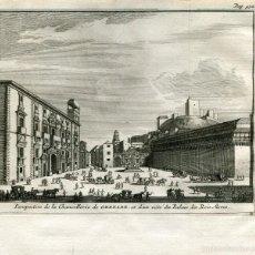 Arte: PERSPECTIVA DE LA CHANCILLERIA DE GRANADA. GRABADO POR PIETER VAN DER AA EN 1707. Lote 59648371