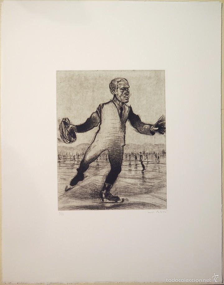 "patinador"", grabado original punta seca, firma - Comprar Grabados ..."