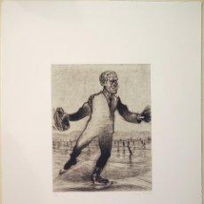 """Arte: """"PATINADOR"""", GRABADO ORIGINAL PUNTA SECA, FIRMADO Y NUMERADO (3/13), MARCOS PALAZZI. Lote 59909543"""