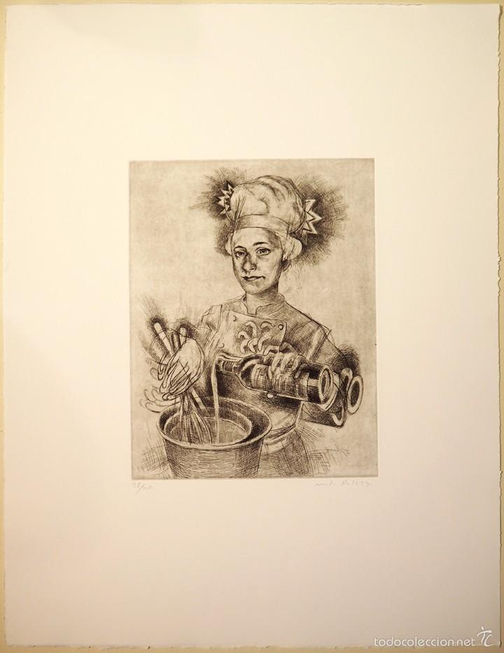 """cocinera"""", grabado original punta seca, firmad - Comprar Grabados ..."""