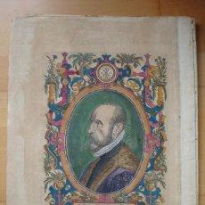Arte: ORTELIUS RETRATO GRABADO COLOREADO ÉPOCA. Lote 60101399