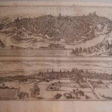 Arte: GRABADO DOBLE VALLADOLID Y TOLEDO MAPA CIUDADES 1572 - 1618 LIBRO BRAUN HOGENBERG. Lote 60272443