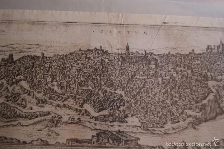 Arte: GRABADO DOBLE VALLADOLID Y TOLEDO MAPA CIUDADES 1572 - 1618 LIBRO BRAUN HOGENBERG - Foto 2 - 60272443