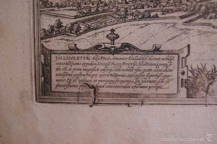 Arte: GRABADO DOBLE VALLADOLID Y TOLEDO MAPA CIUDADES 1572 - 1618 LIBRO BRAUN HOGENBERG - Foto 4 - 60272443