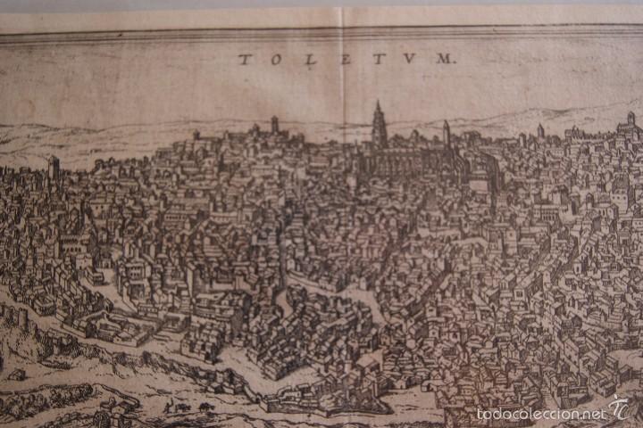 Arte: GRABADO DOBLE VALLADOLID Y TOLEDO MAPA CIUDADES 1572 - 1618 LIBRO BRAUN HOGENBERG - Foto 2 - 60272659