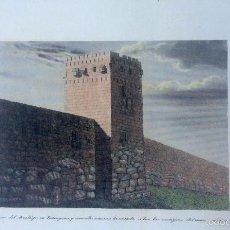 Arte: GRABADO COLOREADO DE TORRE DEL ARZOBISPO EN TARRAGONA. Lote 60521431
