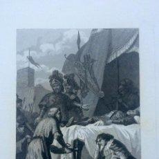 Arte: GRABADO DE LA MUERTE DEL CID CAMPEADOR. Lote 60522155
