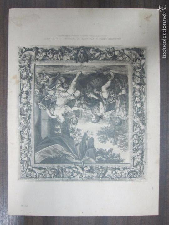 MÉLÉAGRE OFFRE A ATALANTE LE TROPHÉE DE SA CHASSE. B. PICART. 44,3X32,3 CM (Arte - Grabados - Antiguos hasta el siglo XVIII)