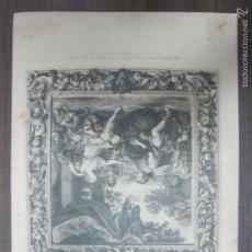 Arte: MÉLÉAGRE OFFRE A ATALANTE LE TROPHÉE DE SA CHASSE. B. PICART. 44,3X32,3 CM. Lote 60559523
