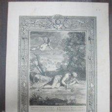 Arte: NARCISSE CHANGE EN FLEUR. B. PICART. 44,3X32,3 CM. Lote 60559619