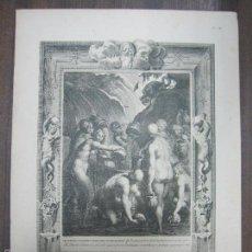 Arte: LES DANAIDES CONDAMNEES A REMPLIR D´EAU UN TONNEAU PERCE. B. PICART. 44,3X32,3 CM. Lote 60559823