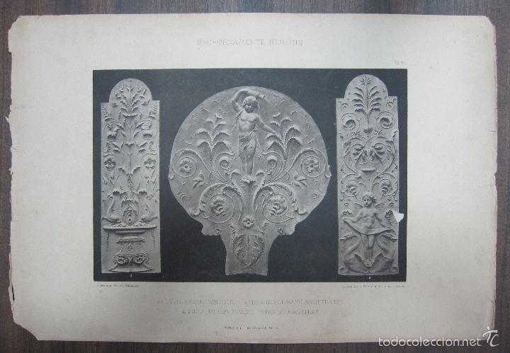 BAU-ORNAMENTE BERLINS. 44,3X32,3 CM (Arte - Grabados - Antiguos hasta el siglo XVIII)