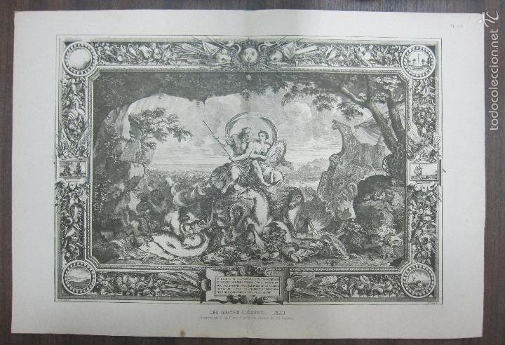 LES QUATRE ELMENTS - L´EAU. LEBRUN. 34,5 X 64,5 CM (Arte - Grabados - Antiguos hasta el siglo XVIII)